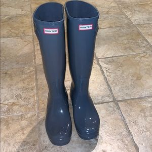 Tall gray Hunter Boots